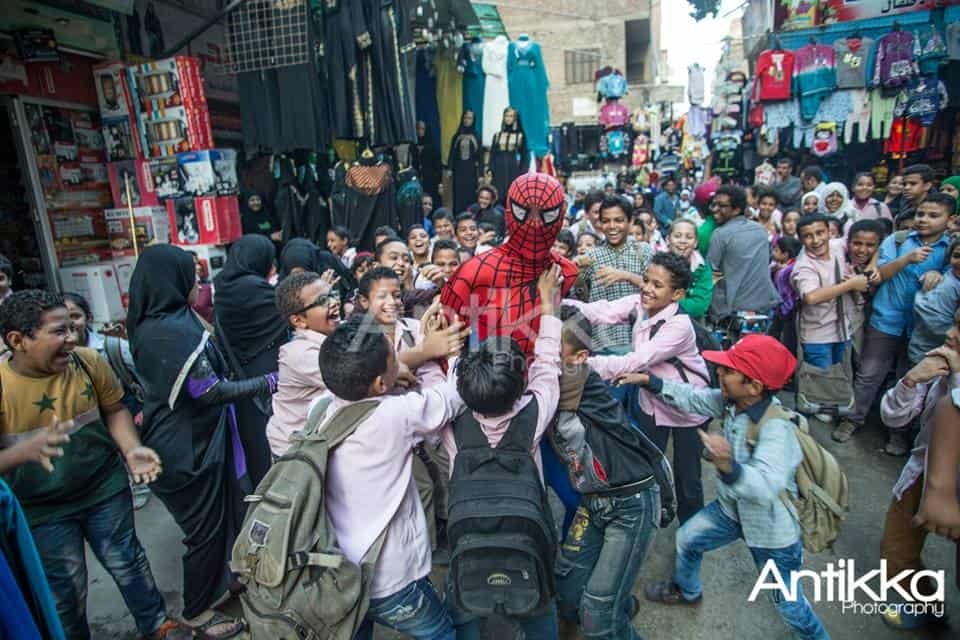 School Children, Cairo, Spider Man