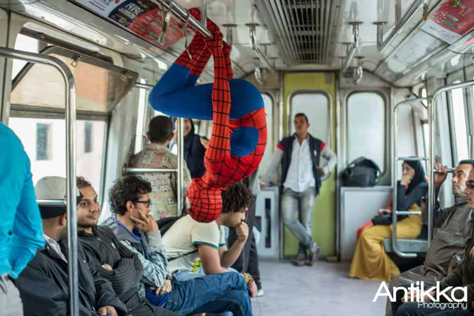 Spider Man, Egypt, Cairo, Metro, Sub-way