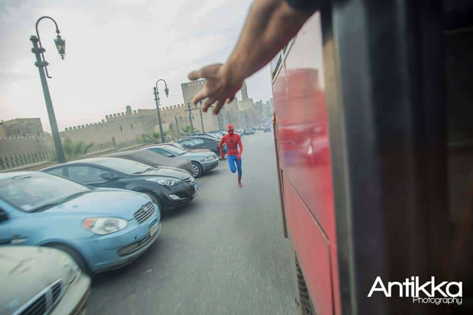 Spider Man, Bus, Egypt, Cairo Streets, Antikka